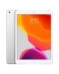 "Apple iPad (2019, Gen 7) 10.2"" Cellular 32GB - Silver front"