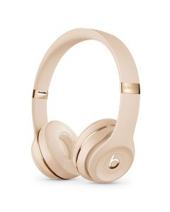Beats Solo3 Wireless On-Ear Headphones Satin Gold front