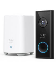 Eufy Wireless 2K Video Doorbell with Home Base 2 E8210CW1 - Black
