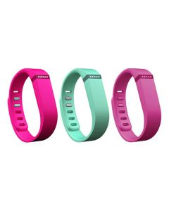 Fitbit Flex Band 3 Pack Vibrant Small FB401BVTPS - Violet, Teal and Pink-main