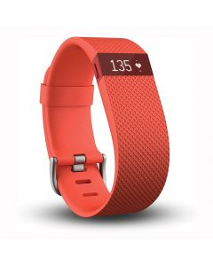 Fitbit Charge HR Heart Rate Activity Wristband Tangerine - Large - main