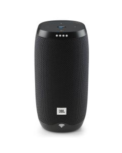 JBL Link 10 Voice Activated Waterproof Portable Speaker Black front
