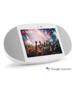 JBL Link View Screen Speaker with Google Assistant White side