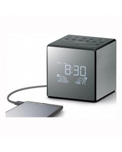 Sony XDRC1DBP Pocket DAB and Alarm Clock Radio - Black - front