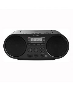 Sony ZS-PS55B Boombox with DAB+/FM Digital Radio Tuner and USB Playback - Black - Front
