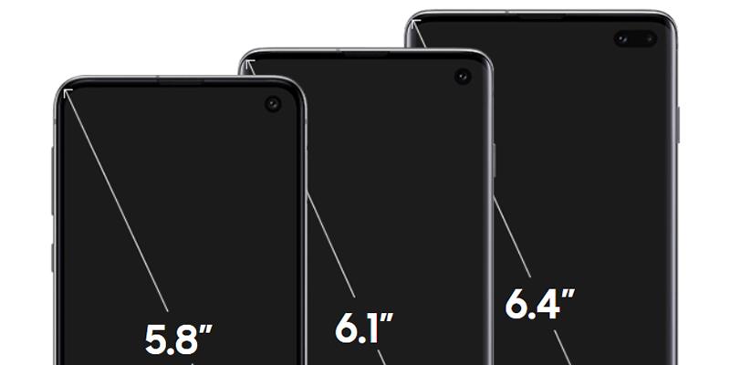 Samsung S10 Size comparison